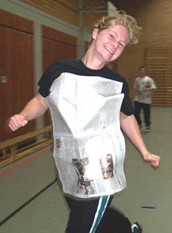 RVSH FÜL 2005: Caro beim Aufwärmspiel
