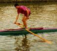 Stehen im Boot
