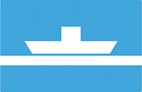 Blau-weiße Tafel
