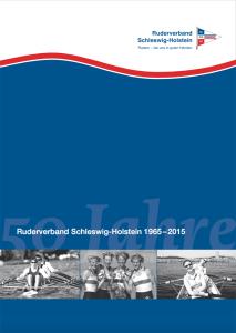 Titel der Festschrift 50 Jahre Ruderverband Schleswig-Holstein