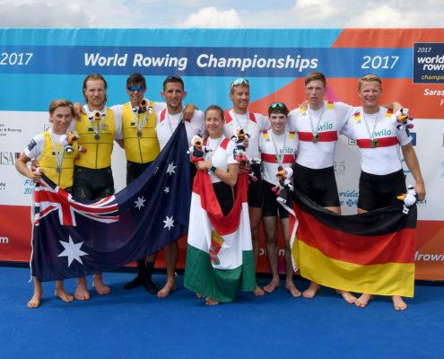 Ruder-WM 2017: Bronze für Finn Schröder. Foto: DRV/Seyb