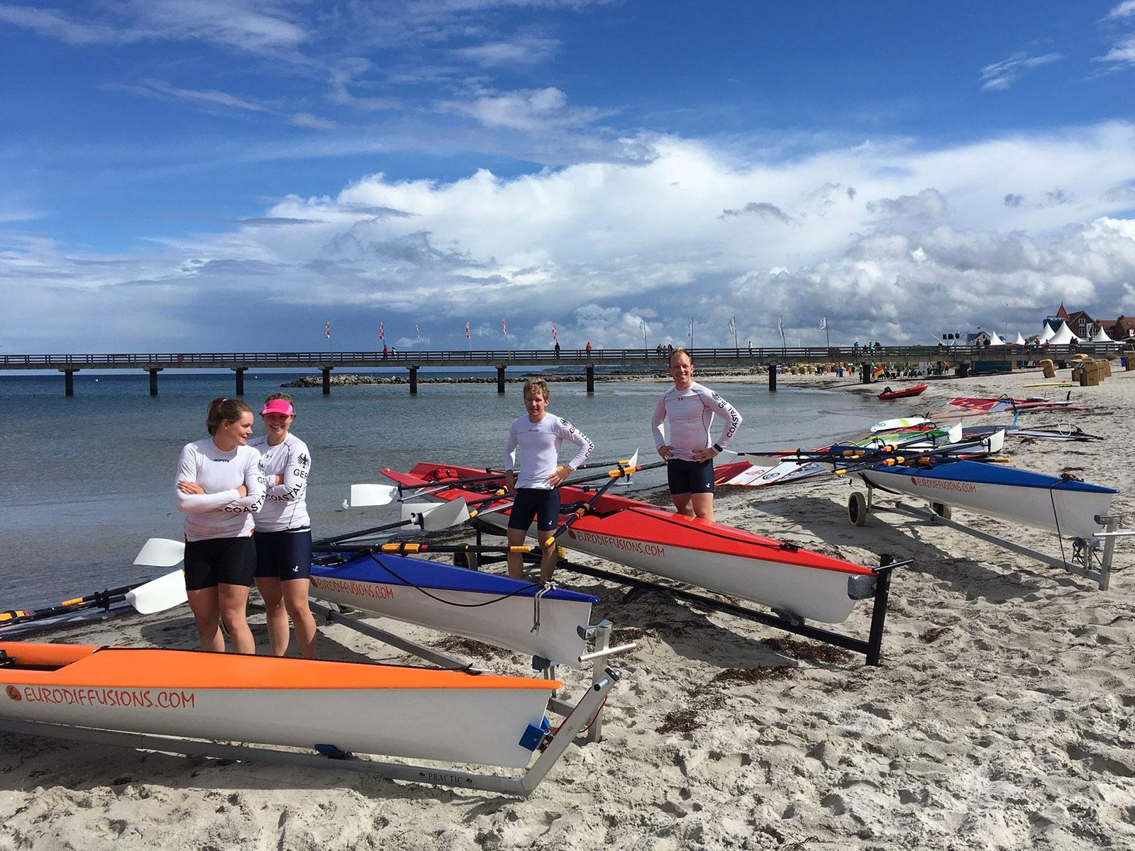 Coastal Team des EKRC beim Training am Schönberger Strand