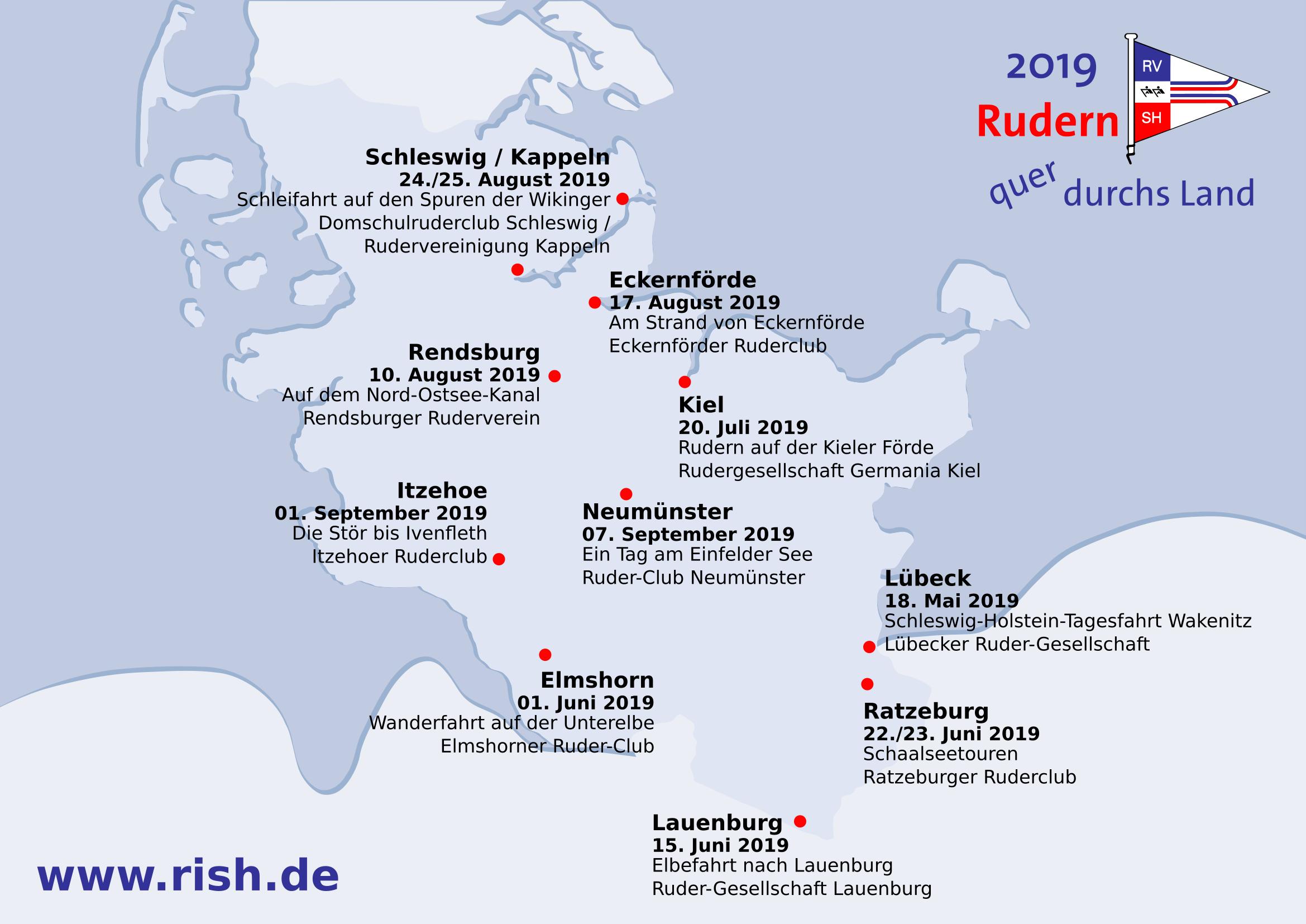 Schwanitz Schleswig Holstein Karte.Quer Durchs Land Lubeck Rish De Rudern In Schleswig Holstein