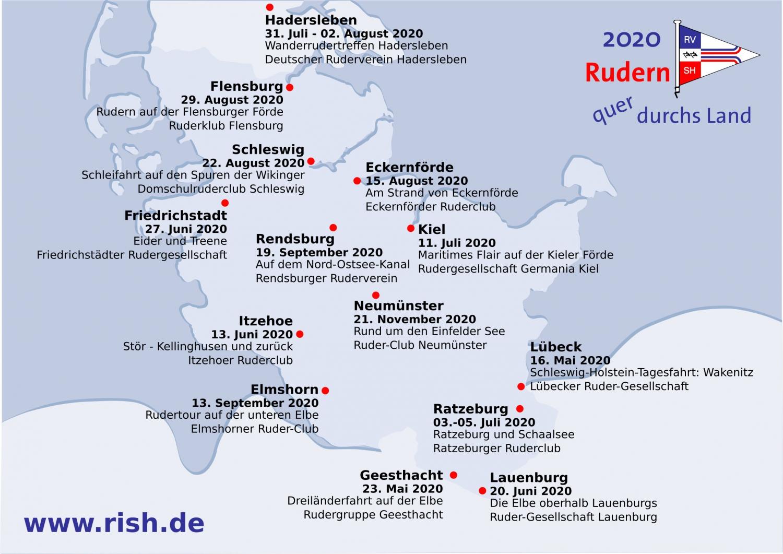 Rudern quer durchs Land 2020