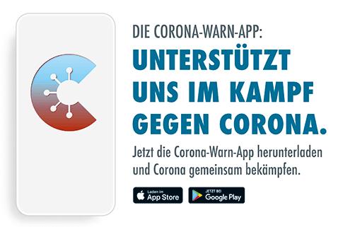 Corona-Warn-App: Unterstützt uns im Kampf gegen Corona. Quelle: Bundesregierung