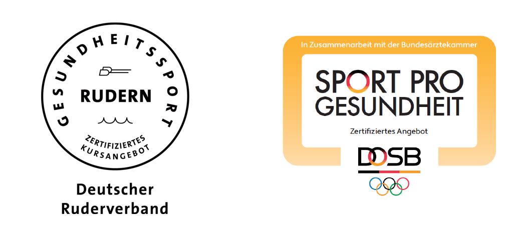 DRV-Zertifikat Gesundheitssport Rudern und DOSB-Siegel SPORT PRO GESUNDHEIT